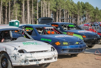 Some of the race cars