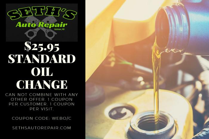 25.95 oil change